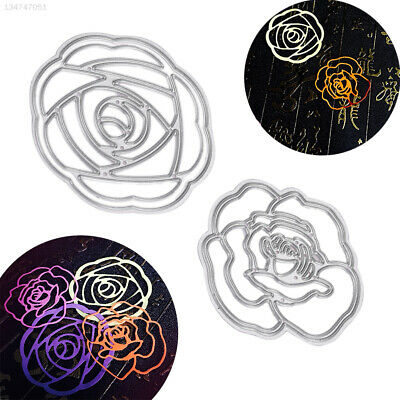 C464 Embossing Stencils Cutting Dies Rose Flower Papercrafts DIY Wedding Home
