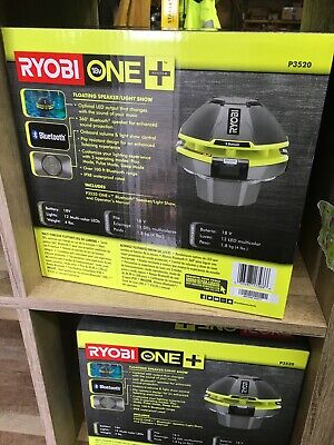 New Ryobi Floating Speaker with LEDs (battery NOT included)