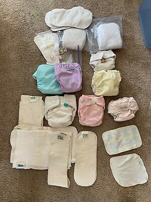 Cloth Diaper Lot: Hemp Babies Doublers, Bum Genius, Thirsties, Bamboo, Inserts
