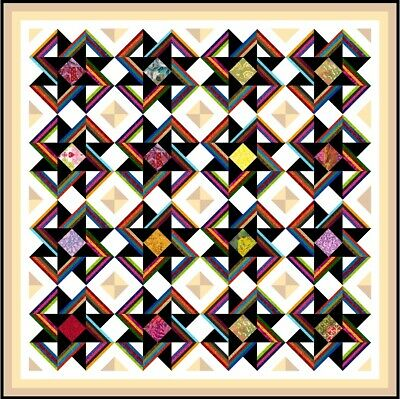 """EVOLUTION - 70"""" x 70"""" - Pre-cut Quilt Kit by Quilt-Addicts Double"""