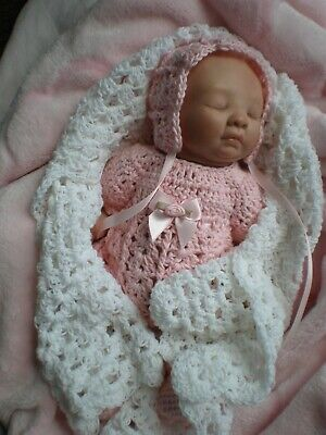 Pretty Outfit And Shawl  For 10 Inch Mini Reborn / Polymer Clay  Dolls