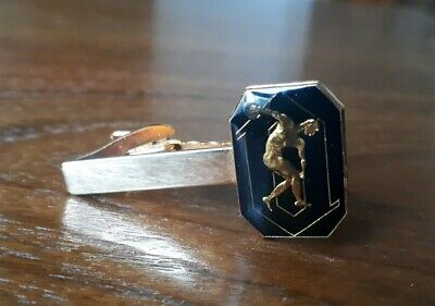 Vintage Olympic Tyres Stokes Gold Plated Tie Clip