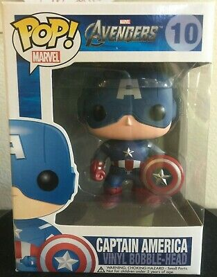 Captain America Marvel Avengers Bobble-Head Funko Pop #10