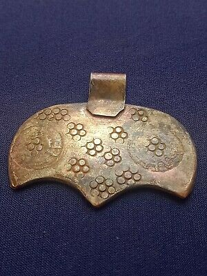 Ancient Silvered Bronze Viking Amulet Axe Rare Antique Pendant 9Th-10Th Cent. Ad