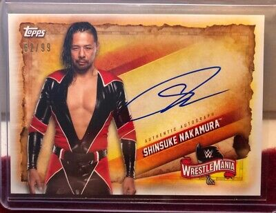 SHINSUKE NAKAMURA 2020 Topps WWE Road to Wrestlemania ON CARD AUTO /99