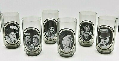 Arby's Vintage 1979 Collector Series of 6 Glass Tumblers - Classic Movie Stars