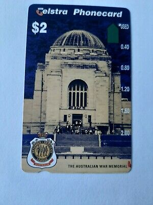 $5   1Hole Phonecard  AUS TRALIAN  War  Memorial  Prefix 1288