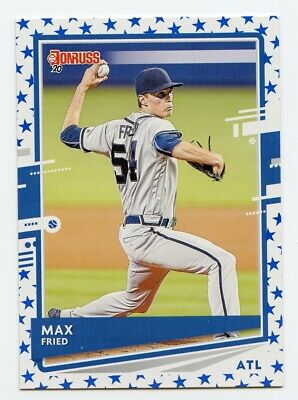 2020 Panini Donruss Baseball - Max FRIED - Independence Day parallel #143