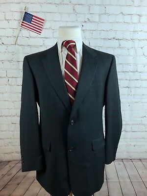 Austin Reed Men's Dark Gray Stripe Wool Blazer Sport Coat Suit Jacket 40R $399