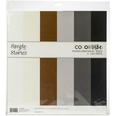 Simple Stories Colour Vibe Double-Sided Paper Pack 6 pack - Basics
