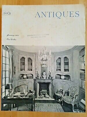 The Magazine ANTIQUES JAN 1963 ROYAL TREASURES SAMPLER LIBRARY STEPS DELFTWARE