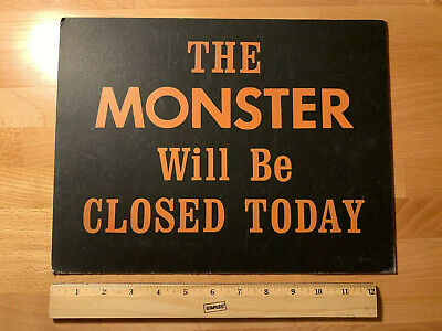 Cedar Point Amusement Theme Park Ticket Booth Sign Fair Carnival Ride Monster