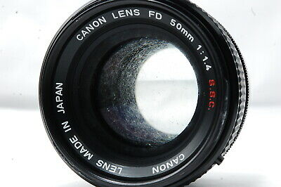 **For Parts** Canon FD 50mm F1.4 S.S.C. Lens SN532599
