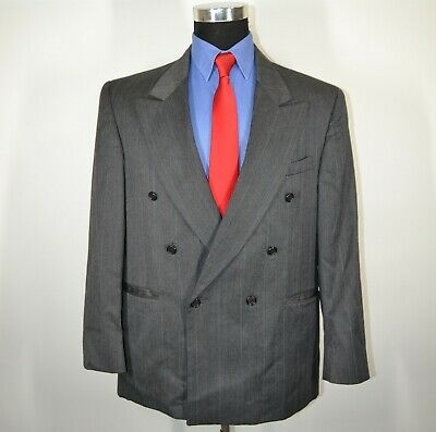 Zeidler and Zeidler 42R Sport Coat Blazer Suit Jacket Gray Stripes USA