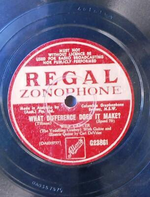78rpm Record - Golden Lariat by Wilf Carter