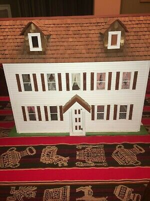 Antique wooden doll house hand made