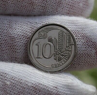 2013 Singapore Singapura 10 Cents;  Circulated;