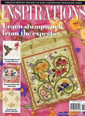 INSPIRATIONS Embroidery Magazine 36 Learn Stumpwork Crazy Patchwork Bunny Rug