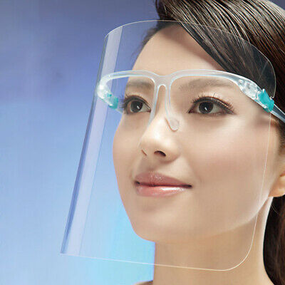2pcs Safety Clear Face Shield Full Face Eye Cover Protective Film Anti-saliva