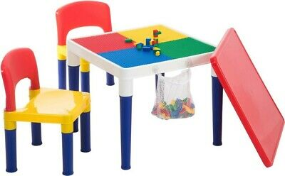 NEW 2 In 1 Block, 1 Table 2 Chairs from Mr Toys