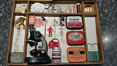 Quirky Medical-themed found-object art box