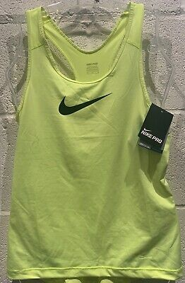 Nike Pro Womens Np Cool Tank Top Dri-Fit Vest Running Fitness Gym Sports Bnwt L