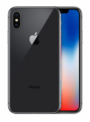 Apple iPhone X - 256GB - Space Grey (Unlocked) A1901 (GSM)
