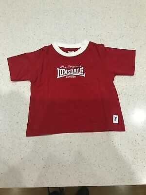 Baby Boy Toddler T-Shirt Top Lonsdale size 0