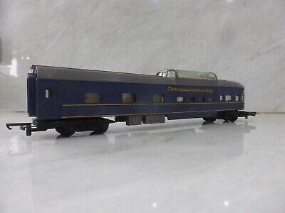 """Tri-ang Triang R445 Observation Car """"Transcontinental"""" Blue"""