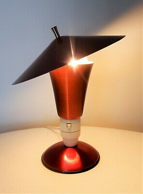 1950's Vintage table lamp, Retro, mid century, atomic anodized Red -STUNNING!