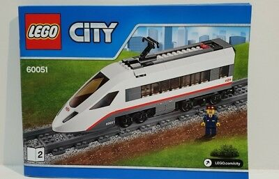 Lego Instruction Manual 2 for 60051 High Speed Train Front Engine No Bricks F2