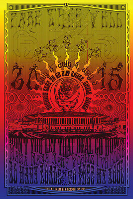 Grateful Dead Chicago - 2015 EMEK poster Fare Thee Well 87