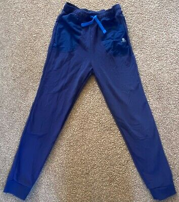 DOMYOS DECATHALON Sports JOGGERS Jogging trouser GIRLS KIDS Size 14yrs Navy Blue