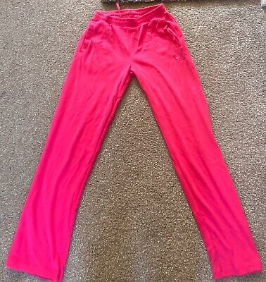 LA GEAR Sports JOGGERS Jogging trouser GIRLS KIDS Size 13yrs HOT PINK FUSCHIA
