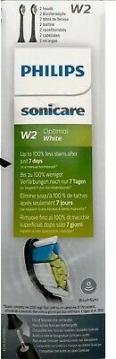 Philips Sonicare Aufsteckbürsten  Optimal White W2 - BLACK 1 Packung Je 2