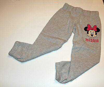 Children Girls Sweat Pants Leisure Joggers Disney Minnie Mouse Grey Size 128