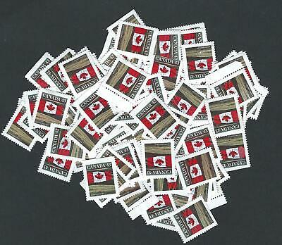 Canada No Gum Uncancelled stamps for postage 100 X 43c flag Face $43.00