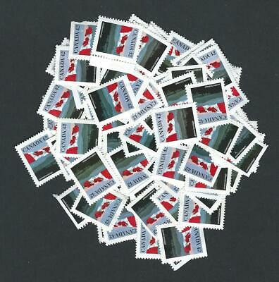 Canada No Gum Uncancelled stamps for postage 100 X 42c flag Face $42.00