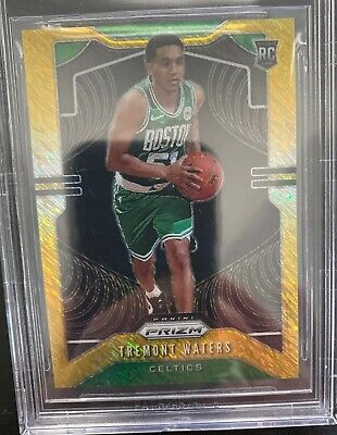 Tremont Water 2019-20 Panini Prizm /10 Gold Shimmer Rookie Rc Celtics #286