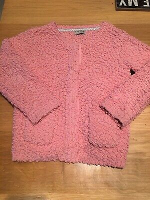 Lovely Little Girls Pink Cardigan, Next, Aged 4-5 Yrs, Vgc