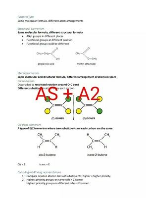 OCR A Level A*  AS + A2 Chemistry A Revision Notes PDF file