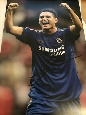 CHELSEA FRANK LAMPARD 12X8 photo SIGNED AUTOGRAPHED 6