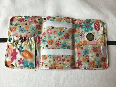 Thirty one fold N go organizer cosmetic 31 GIFT NO NOTEPAD Bright Flowers