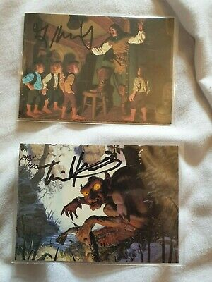 Lord of the Rings - Greg and Tim Hildebrant 2 signed trading cards