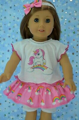 """Doll Clothes For 18"""" American Girl~Our Generation~Journey SKIRT~TOP~HEADBAND"""