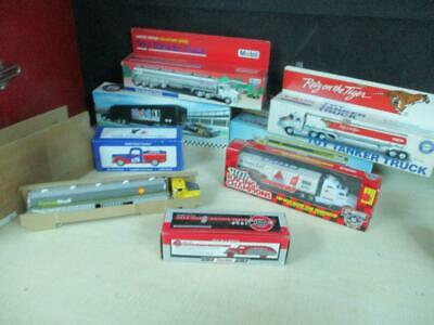 (8) Different Promo Toy Trucks Gas Station Oil Premiums Promo Mib Lot Nice!