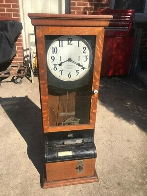 Vintage Oak Time Clock