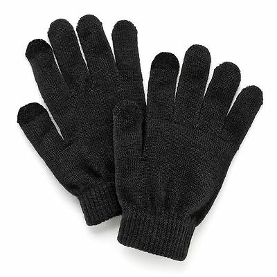 Nwt Ladies Black Sonoma Touch Screen Compatible Magic Gloves    One Size