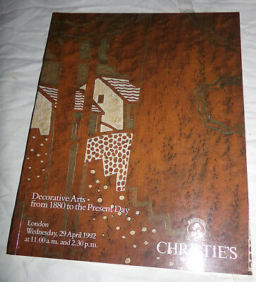 Decorative Arts from 1880 Present Day Christie's Auction Catalog April 29 1992