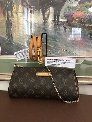 ❤Louis Vuitton❤Eva❤Monogram❤ Crossbody Clutch Purse Handbag 100% Auth LV💕👜